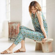 Maria Organic Cotton Floral Jersey Jumpsuit
