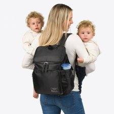 Marisa backpack for Vegan parents in recycled polyester from plastic bottles