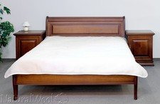 Mattress cover for double bed in merinos wool