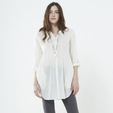 Camicia Lunga bianca in cotone