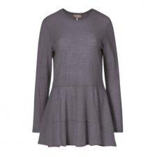 Maxi shirt blouse Mimi in 100% merino wool