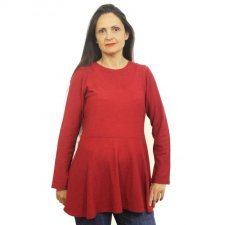 Maxi shirt blouse Mimi in 100% merino wool