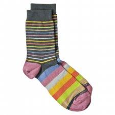 Medium Bamboo Socks for women -  Multicolor Striped