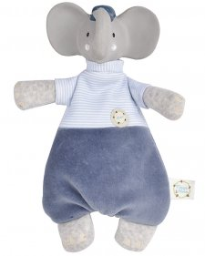 Alvin the Elephant soft toy in natural rubber and organic cotton