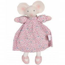 Meiya the Mouse soft toy in natural rubber and organic cotton