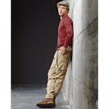 Men chino trousers in organic cotton and hemp