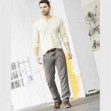 Men jeans trousers in 100% hemp