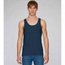 Men narrow shoulder tank top in organic cotton