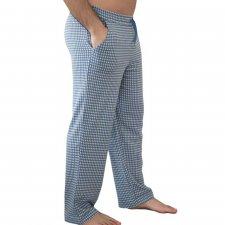 Men's pajama trousers Denim in 100% organic cotton