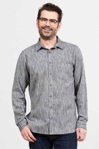 Men's Textured Cotton Long Sleeved Shirt