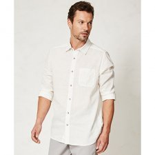 Olaf white shirt in hemp