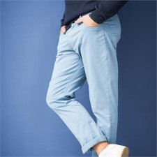Men trousers in organic cotton