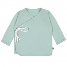 Mint kimono sweater for babies in organic cotton