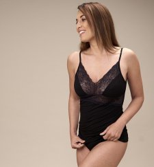 Modal® woman spaghetti top with lace