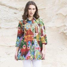 Jaipur long shirt in organic cotton