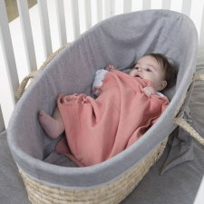 Moses basket cover in cotton jersey - grey