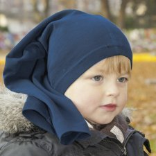 Multipurpose blue hat in organic cotton