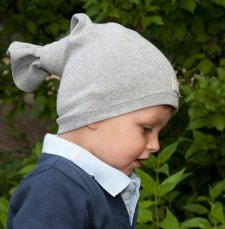 Multipurpose grey hat in organic cotton