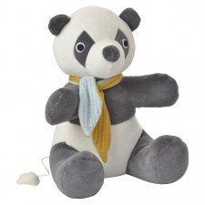 Music box Panda in organic cotton