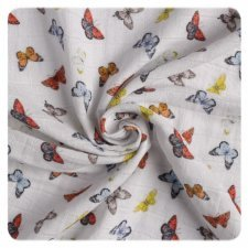 Muslin for wrapping in organic cotton Butterflies