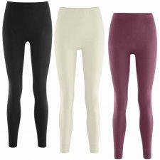 Mutande lunghe leggings da donna 100% cotone biologico