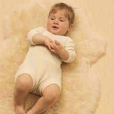Mutandina copri pannolino in lana a maglia