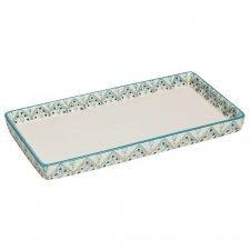 NAILA tray in hand-painted glazed ceramic