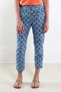Narrow leg trousers in fair trade cotton