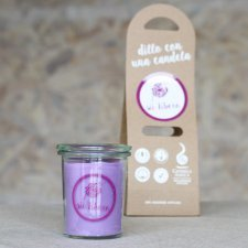 Purple Candle with message Sii Libero