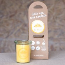 Yellow Candle with message Tu puoi