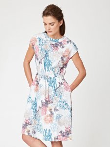 Nerissa floral print dress in Tencel and organic cotton
