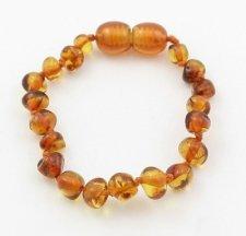 Baby amber bracelet Cognac