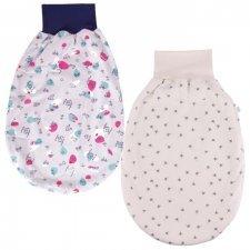 Newborn romper bag in organic cotton interlock