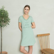 Nightdress Five minutes with short sleeve in organic cotton