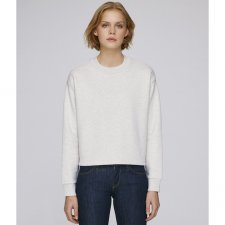 Loose cropped sweatshirt with large collar