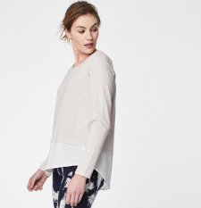 Elowen Organic Cotton Hi Lo Double Layer Top