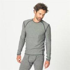 Sport Long sleeve men shirt in organic wool