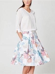Nerissa Coral Pleated Skirt