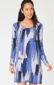 Brunia Printed Bamboo Lounge Dress