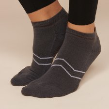 Gray Sport socks in Eucalyptus fiber