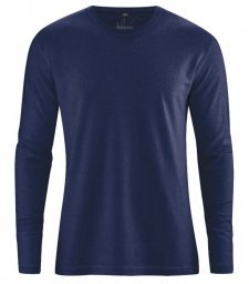Hemp Basic long sleeve shirt Navy