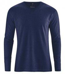 Hemp Basic long sleeve shirt Navy