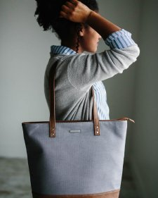 Changing bag in eco-leather
