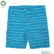 Popolini striped short in organic cotton