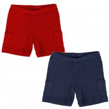 Red shorts in organic cotton