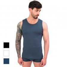 Men's Sleeveless Tank Top in Modal and Cotton