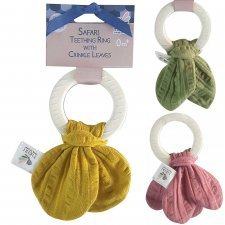 Teethers with natural rubber ring and organic cotton