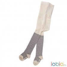 Tights grey stripes in organic cotton