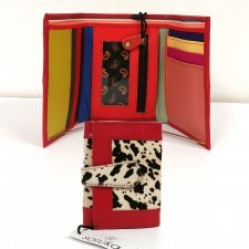 Soruka Easy women wallet with Animal Print in recovered leather