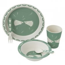 Bamboo dinner set Hedgehog